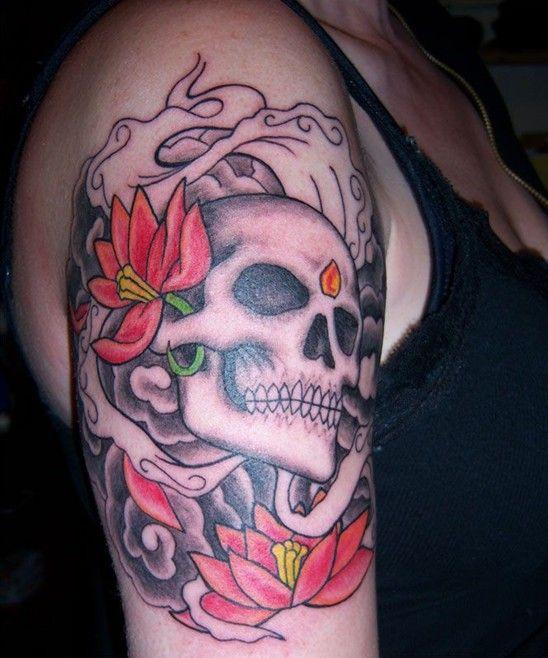 50 Cool Skull Tattoos Designs Pretty Designs Skull Tattoo Design Skull Tattoo Upper Arm Tattoos Designs