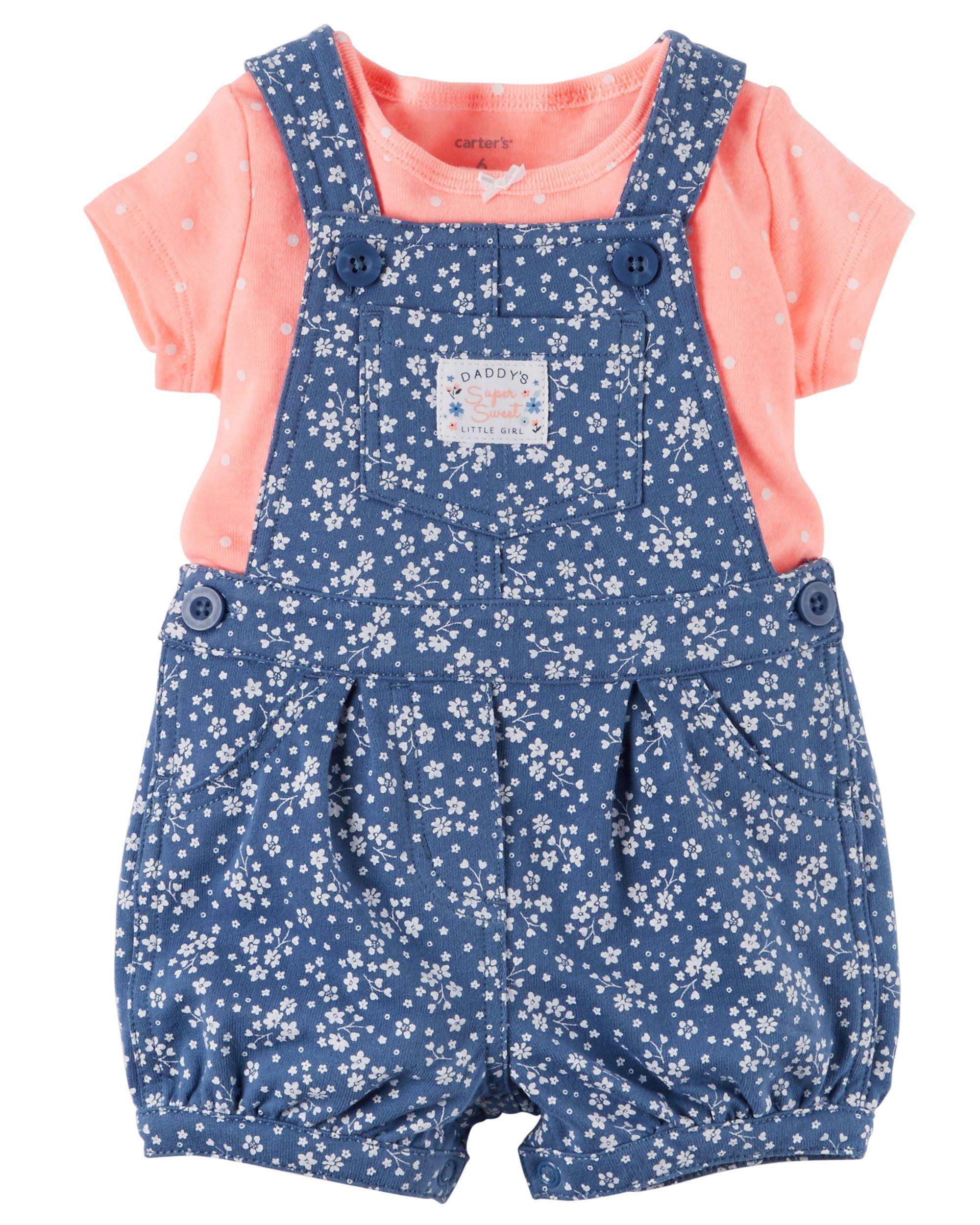 Baby Girl 2 Piece Top Shortalls Set From Carters Com Shop