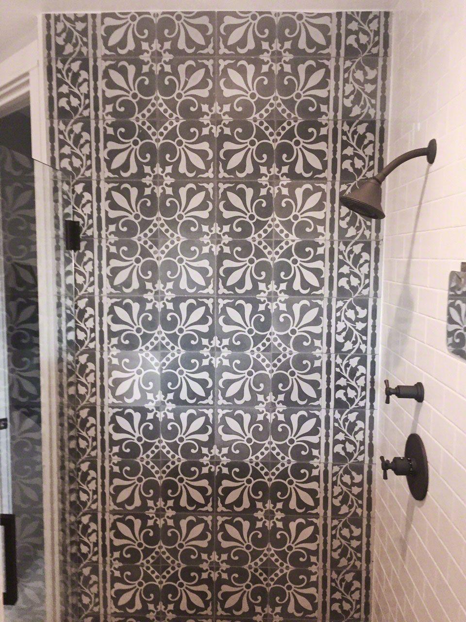 - Boca Raton Residence Cuban Tile, Tiles, Shower Wall