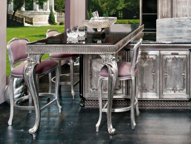cuisine moderne à l'ameublement baroque remis au goût du jour ... - Meubles Baroques Design