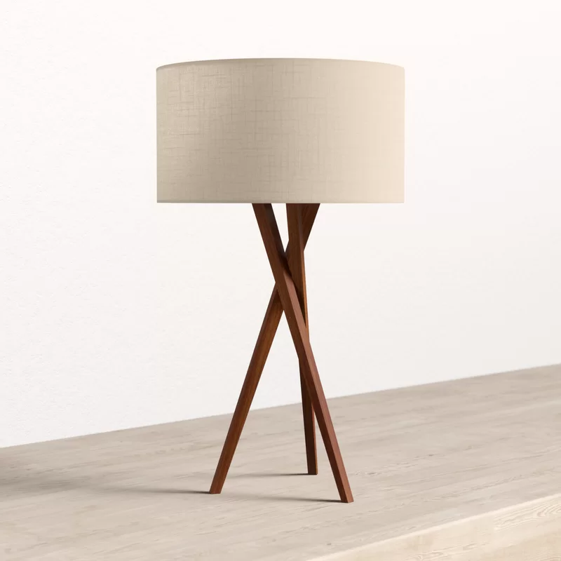 Hayle 30 Tripod Table Lamp Reviews Allmodern Tripod Table Lamp Tall Table Lamps Table Lamp Wood #tall #living #room #table #lamps
