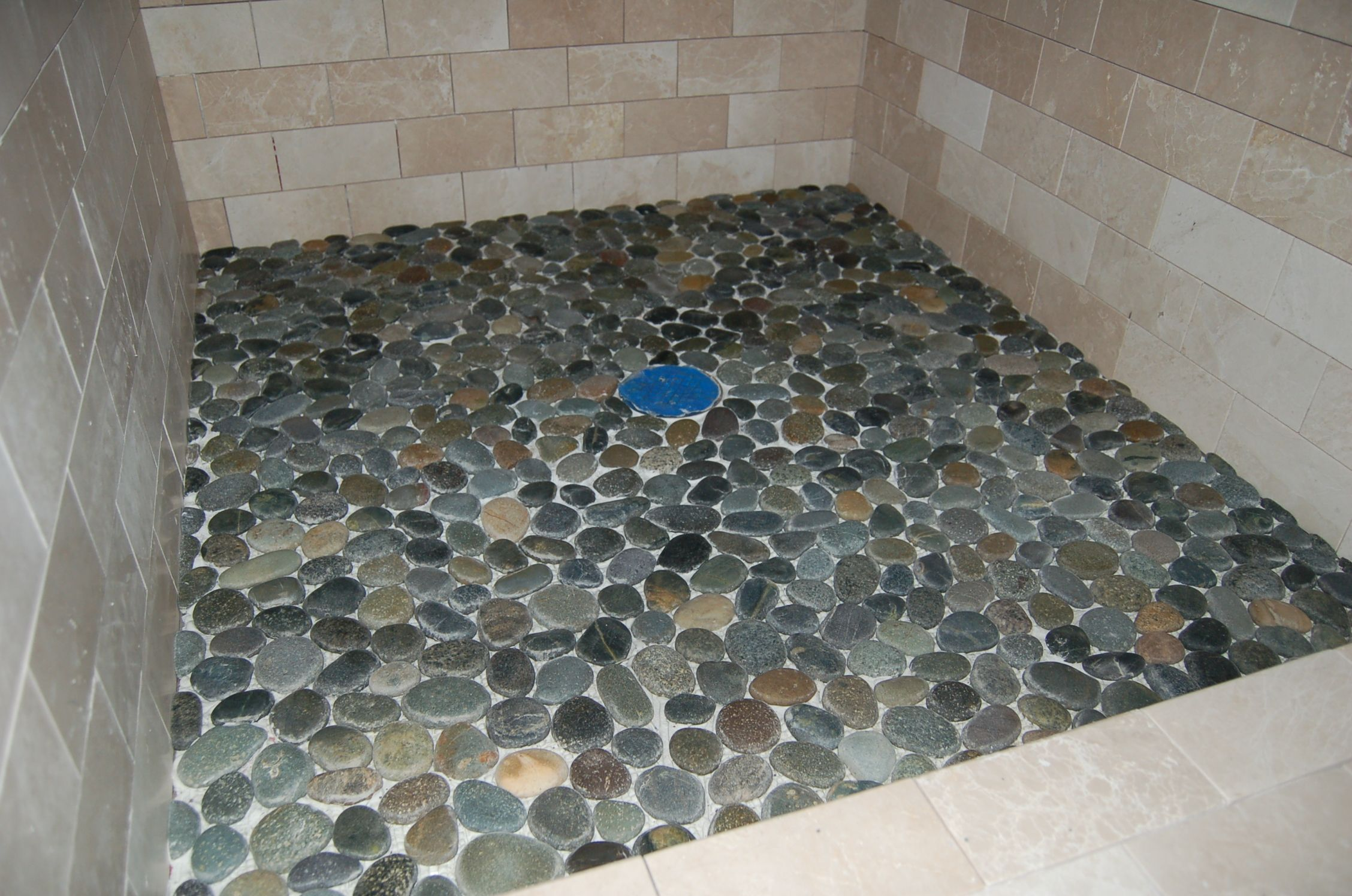 Tile And Trim Shower Floor Pebble Shower Floor Pebble Tile Shower Floor
