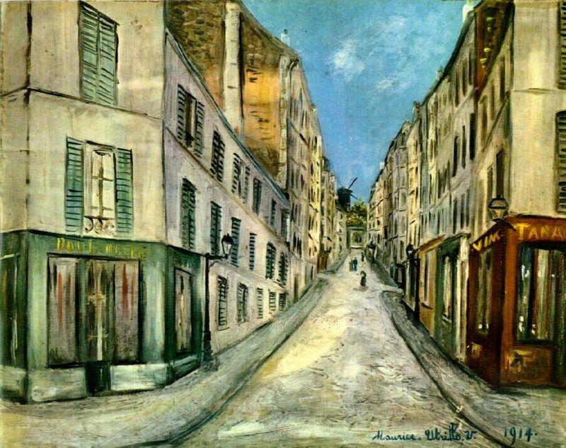 Maurice Utrillo Paris Street 1914 Paris Street Urban