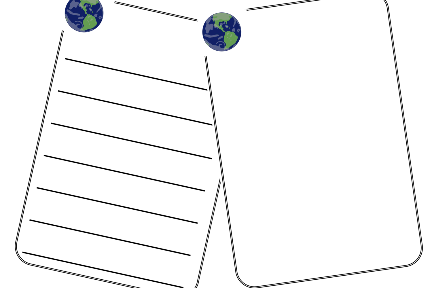 Free Earth Blank Sheets Early Years Eyfs Printable