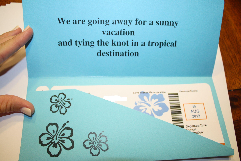 DIY boarding pass invites DIY boarding pass