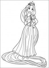 Rapunzel Para Colorir Coloriage Princesse Pages De Coloriage
