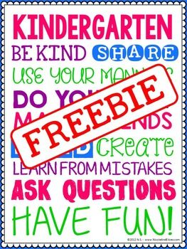 FREE Kindergarten Resources- just print and use!