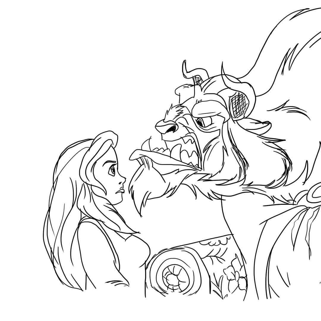 Beauty And The Beast Art Illust Illustration Design