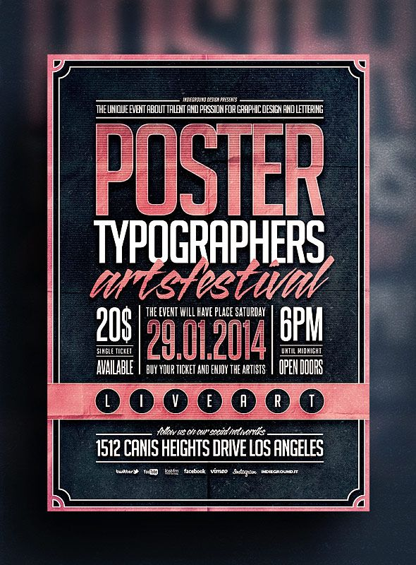 Related Image  Flyers    Typography