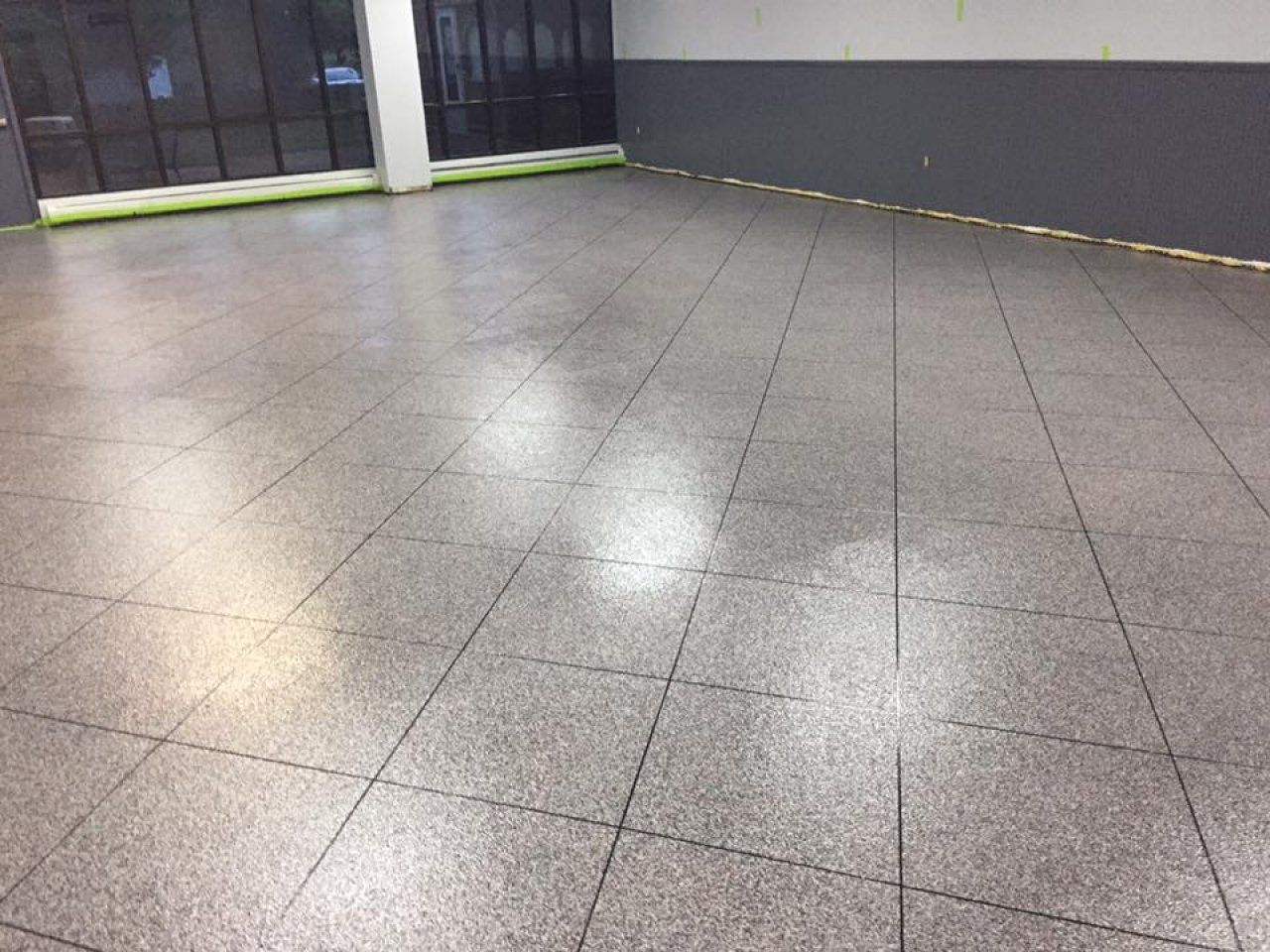 Durable And Decorative Epoxy Tile Flooring In Harrisonburg, Virginia