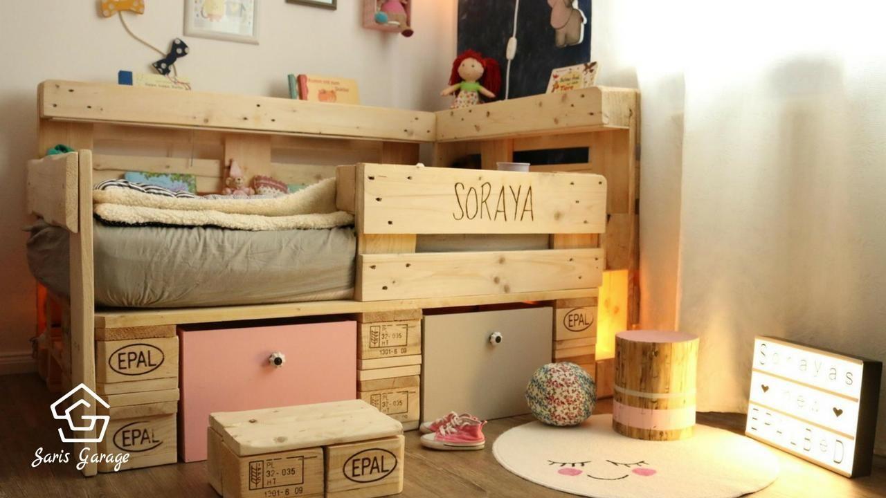 Kinderbett Bauen ᐅ palettenbett für kinder kinderbett aus europaletten diy