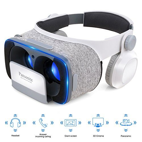 082cabeeccb nice Pansonite 3D VR Glasses Virtual Reality Headset- More Comfortable and  Lighter For VR Games and 3D Movie with Adjustable Focal and Pupil Distance