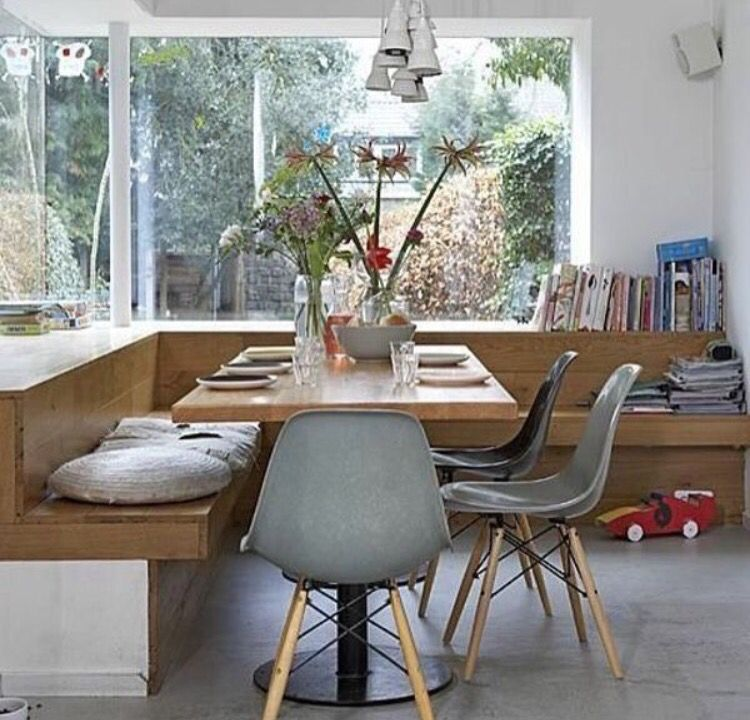 Eckbank mit Fenster 门厅 Pinterest Dinner table, Interiors and