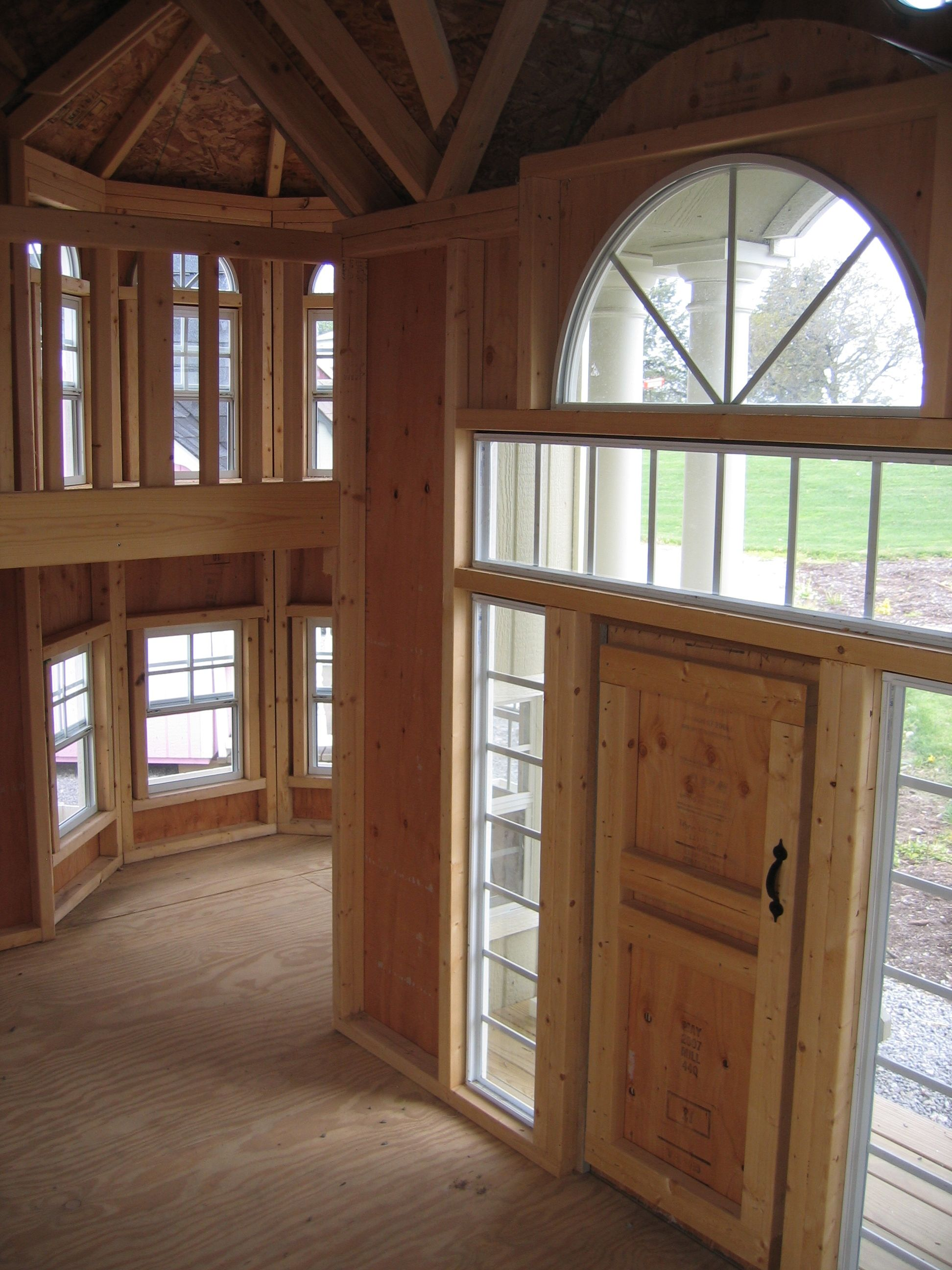 Playhouse grand portico mansion luxury playhouse for Playhouse ideas inside