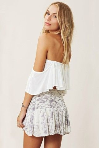 981ad15ea Blue Life Mini Skater Skirt in White Snake | Fashionista | Fashion ...