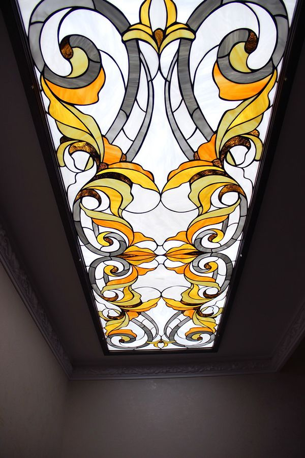 Ceiling Lights And Ceiling Stained Glass On Behance With Images Stained Glass Mosaic Stained Glass Art Stained Glass Patterns