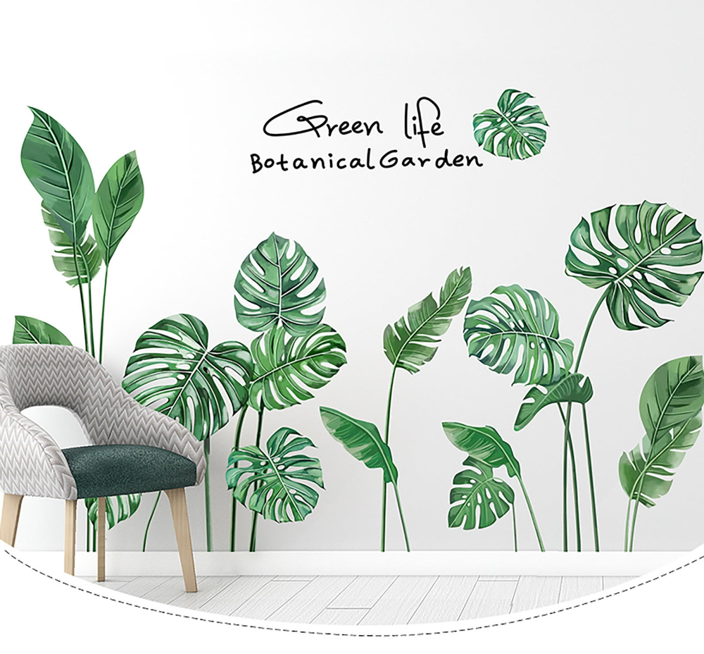 Greenery Foliage Leaf Flower Wall Stickers Home Kids Decor Vinyl PVC Decal Art