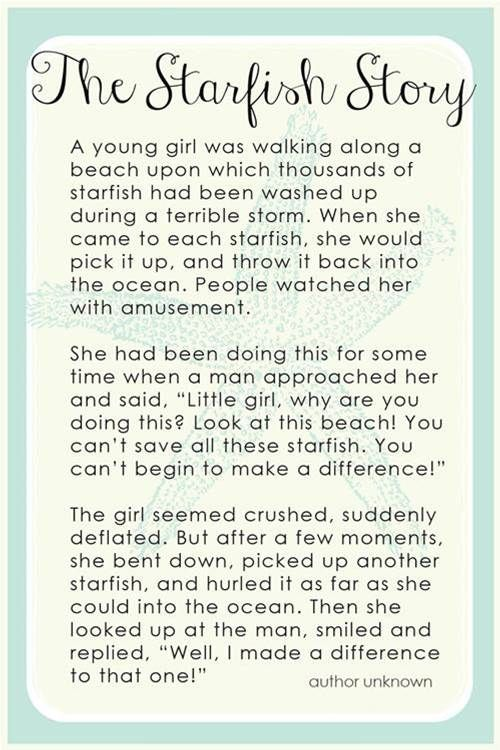 Starfish Story Printable - Bing Images | Social Work ...