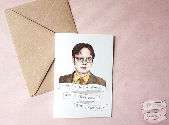 For fans of the office televisions cards and community for fans of the office community post 21 great valentines day cards from etsy for the television fan m4hsunfo