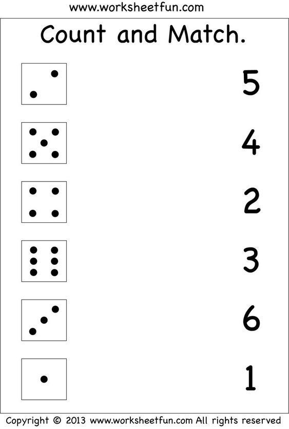 Numbers A Count And Match Free Printable Worksheets A Worksheetfun Unca Free Kindergarten Worksheets Numbers Preschool Kindergarten Math Worksheets Free printable worksheets for preschool