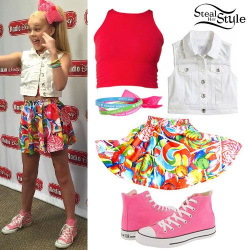 c1e75ebace JoJo Siwa: Denim Vest, Lollipop Skirt   dresses in 2019   Jojo siwa ...