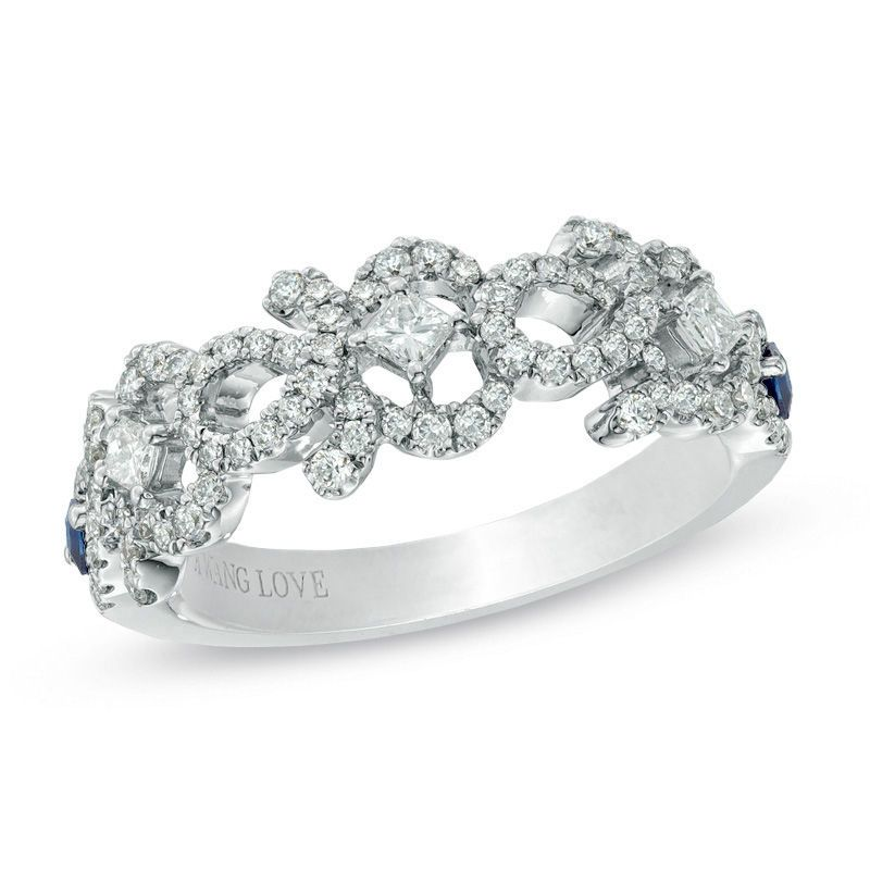 Vera Wang Love Collection 1/2 CT. T.w. Diamond and Blue