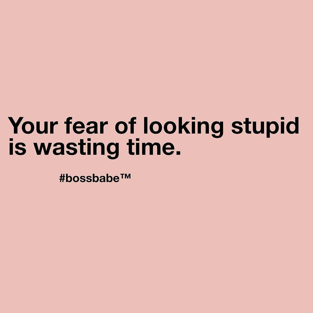 Imagine if your fear didn't stop. Take the FREE 3-day #BossBabe starter course by clicking the link in our profile!!