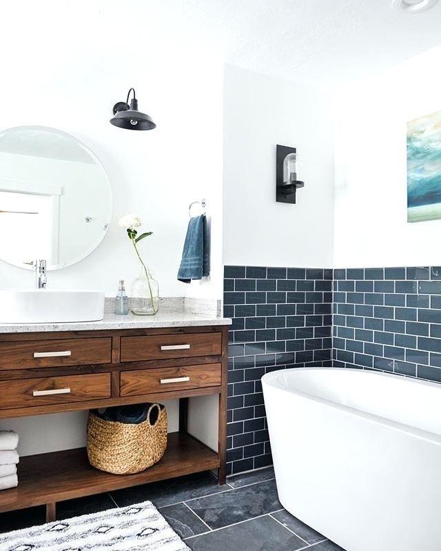 Merveilleux Image Result For Blue Metro Tile Bathroom Ideas