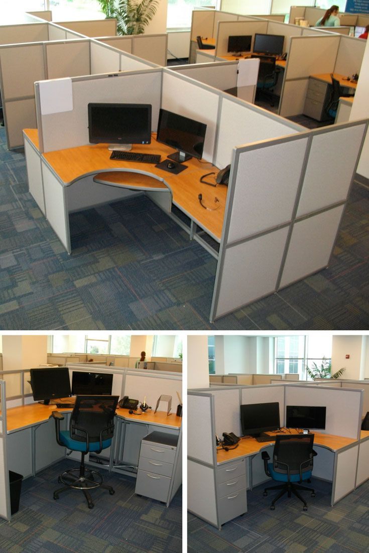 Call center installation by interior concepts featuring 6 wide by 4 5 deep workstations with