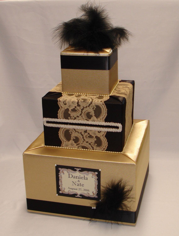 Gatsby themed wedding card boxany colors card box