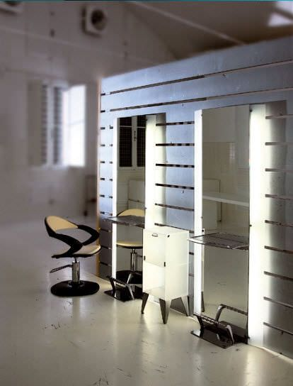 Coiffeuse miroir rétro éclairée mobilier pour salon de coiffure