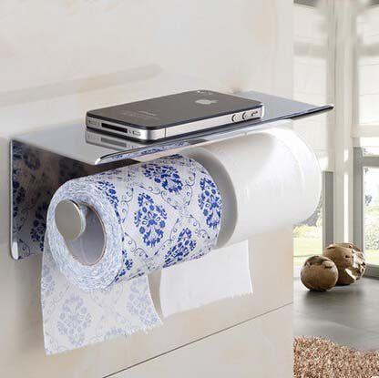 Senlesen Chrome Stainless Steel Double Roll Toilet Paper Holder