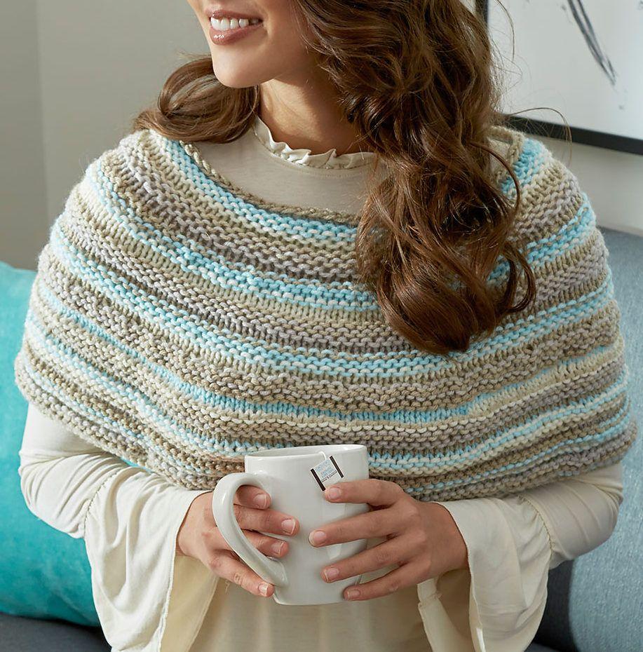 Free Knitting Pattern for Cozy Shoulders Poncho Cowl | Пончо ...