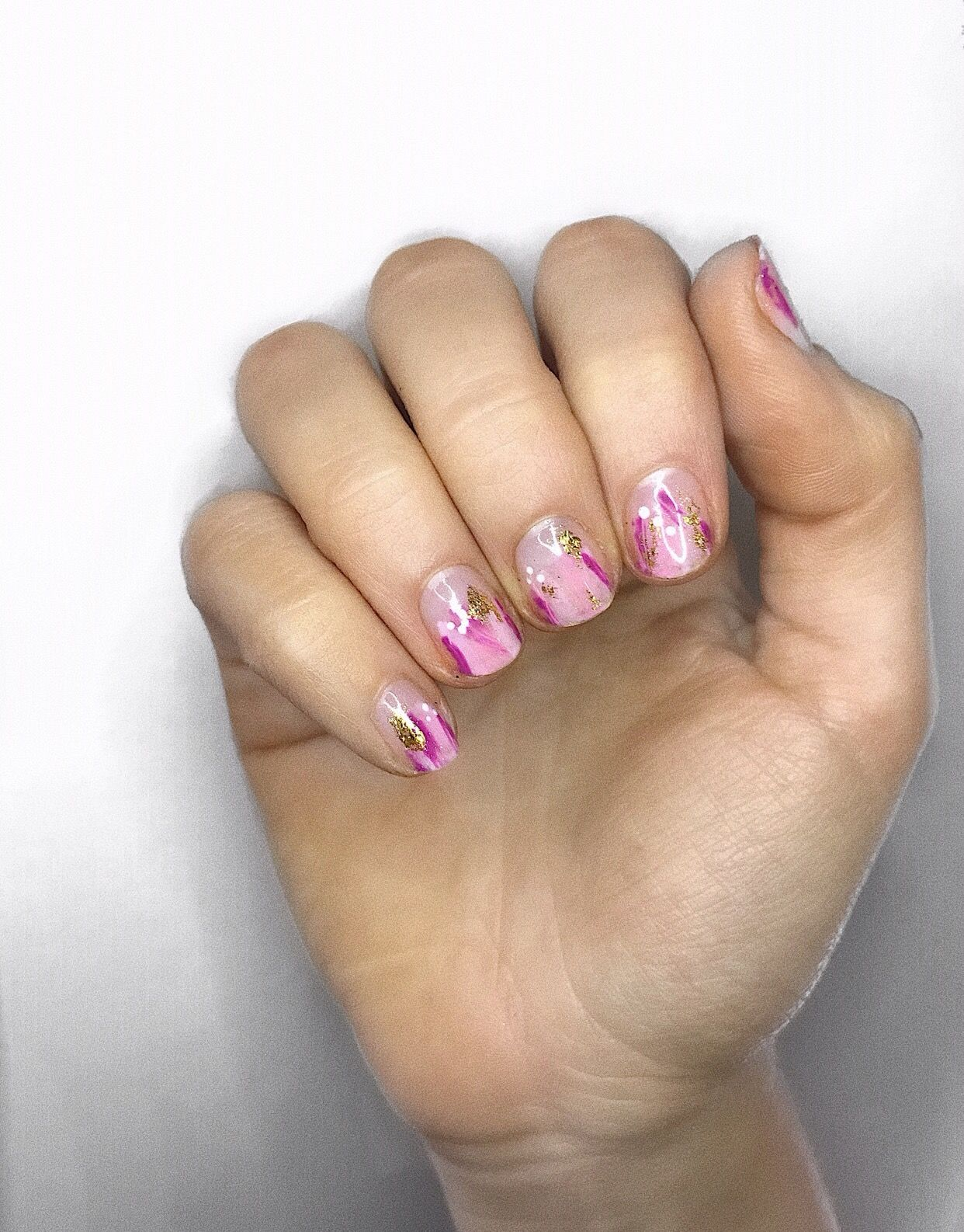 Dry Brushing Gel Nails by Lunula Nails Derby #nailart #naildesigns ...