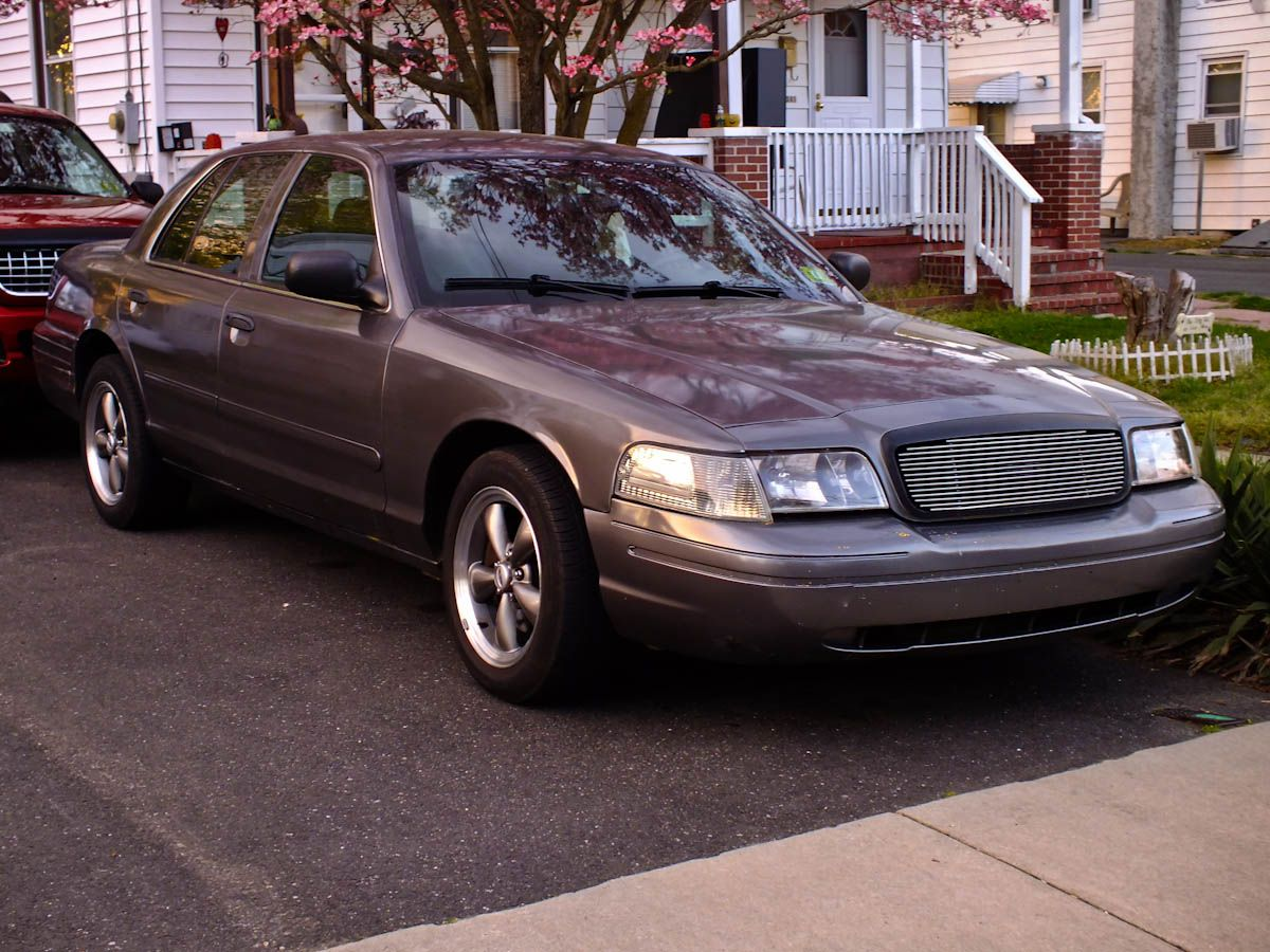 Ford crown victoria with polished billet grille by genx trims car accessories crown ford