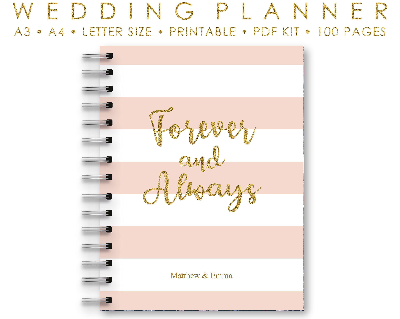 Wedding Binder Wedding Book Pink Navy Wedding Planner