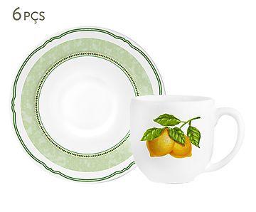 Jogo de Xícaras para Café com Pires Lemon