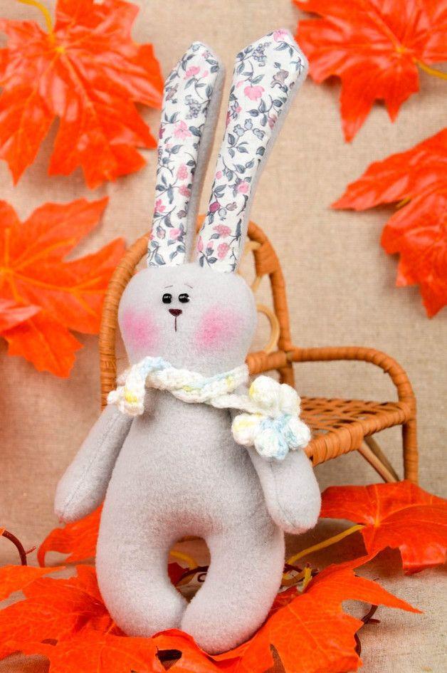 Kuscheltiere - Hase Stofftier handmade Spielsache für Kinder - ein Designerstück von WeicherPanda bei DaWanda