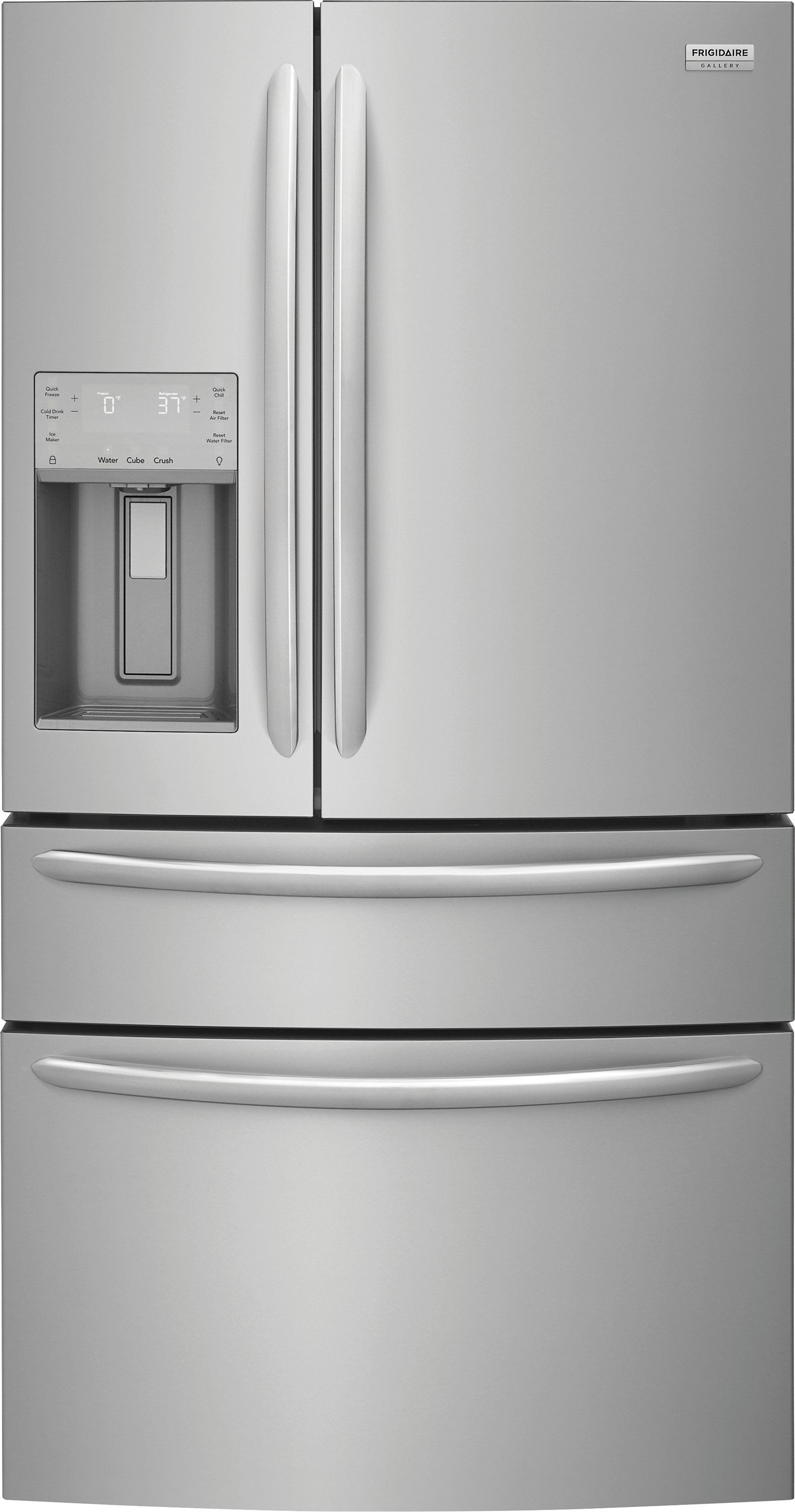 Frigidaire Gallery Counter Depth French Door Refrigerator 21 8 Cu Ft 36 Inch Stainless Steel In 2020 French Door Refrigerator Kitchen Appliance Packages Counter Depth Refrigerator