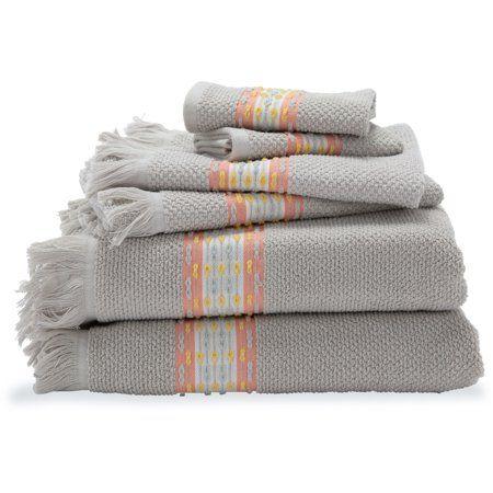 6 Piece Fringe Bath Towel Set By Drew Barrymore Flower Home