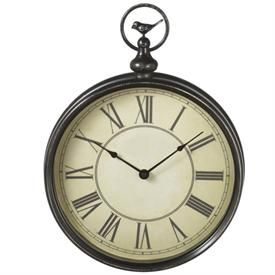 Pocket Watch Wall Clock with Perching Bird Wall Clocks