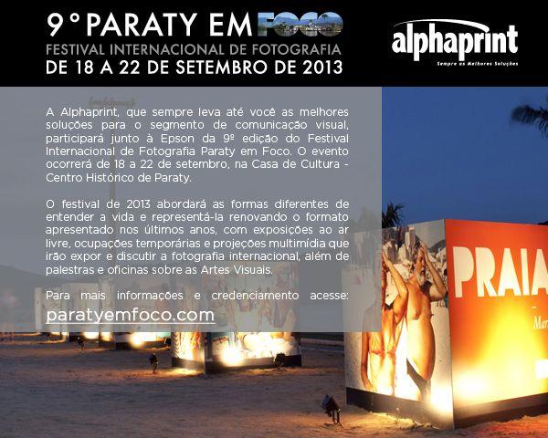 Participe da 9º edição Paraty em Foco junto à Alphaprint e conheça formas diferentes de entender a vida através da fotografia.