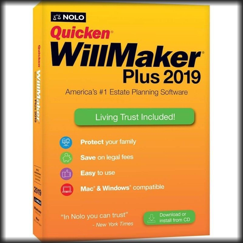 Personal Finance Tax And Legal 158906 Quicken Willmaker Plus 2019