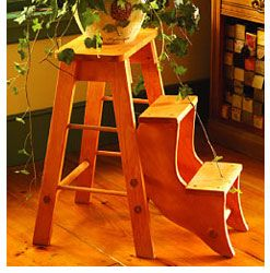Diy Fold Up Pine Stepping Stool This Versatile Step Stool Is Both