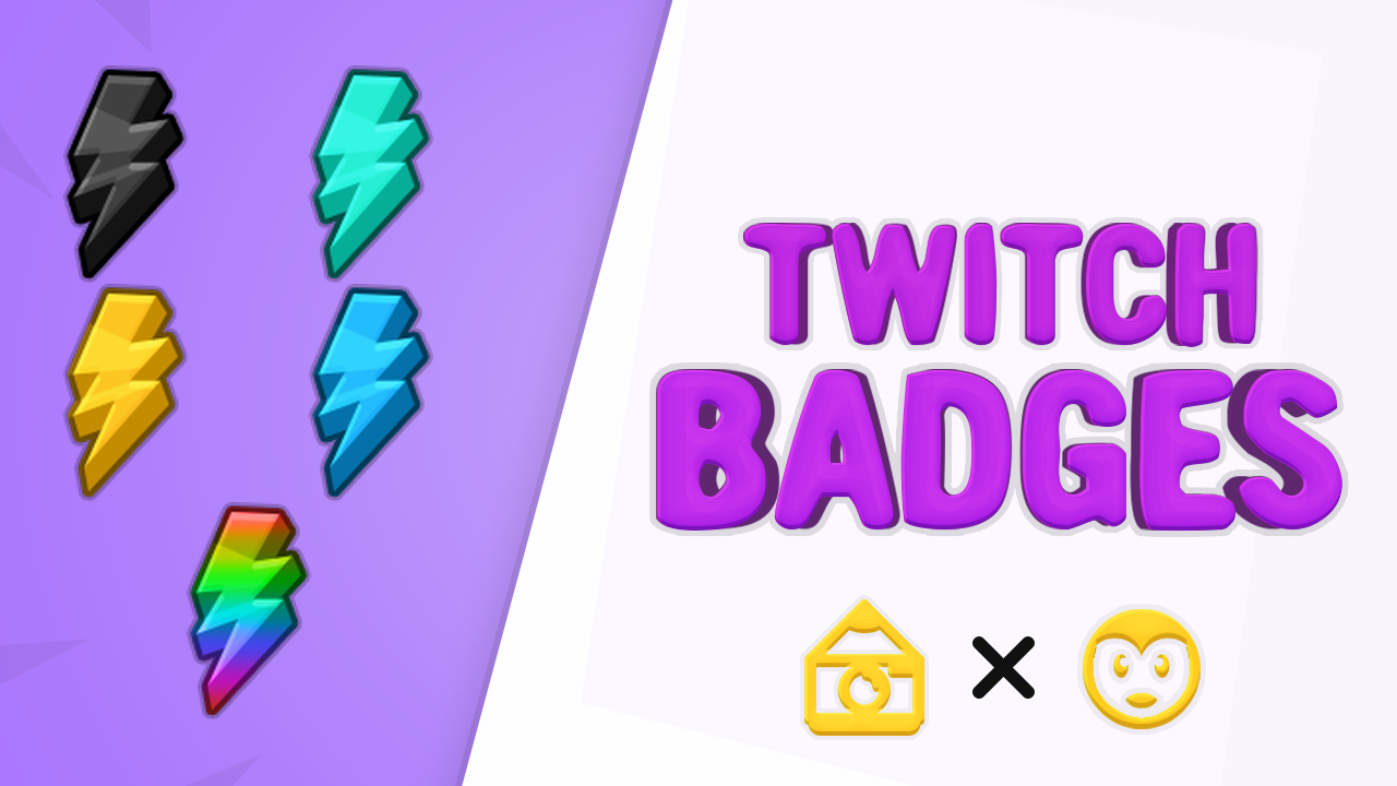 Icyk1d I Will Create Professional Twitch Badges For 10 On Fiverr Com Twitch Badge Logo Color