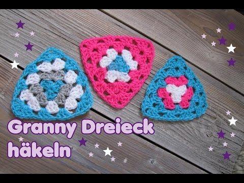 Dreieckige Granny Hakeln So Einfach Und Toll Dreieck Hakeln Hakelmutze Hakeln Muster