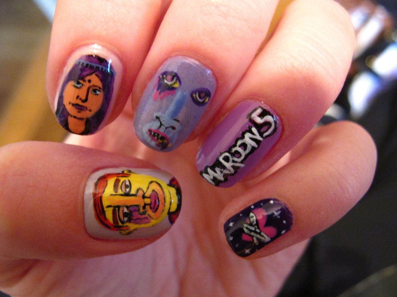 Nail Art | Tumblr Overexposed - Maroon 5 inspired nails. | Nails ...