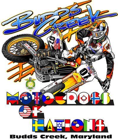 Motocross Of Nations Maryland Motorcycle Art Cartoon Art Motocross