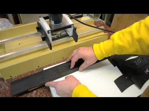 Radius a fingerboard fretboard custom guitar building DIY