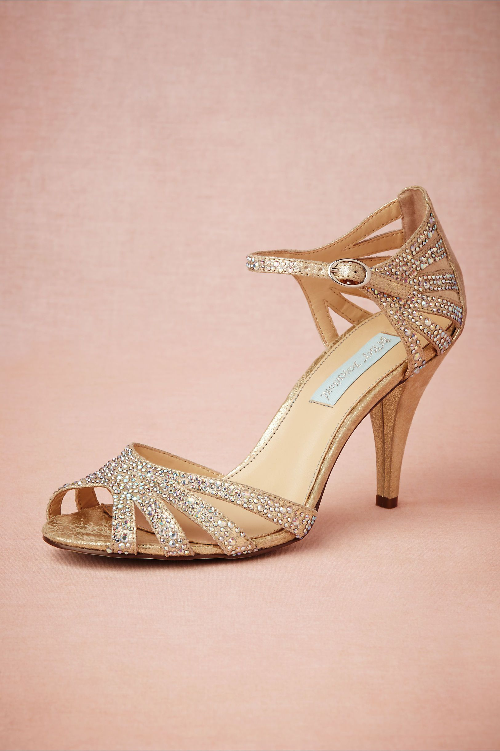 Champagne Sparkle Heels in Shoes   Accessories Shoes at BHLDN ... 11bd35ed751c